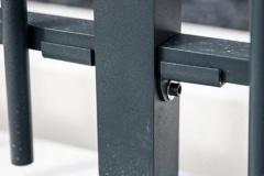 Détail platine clôture MIKADO