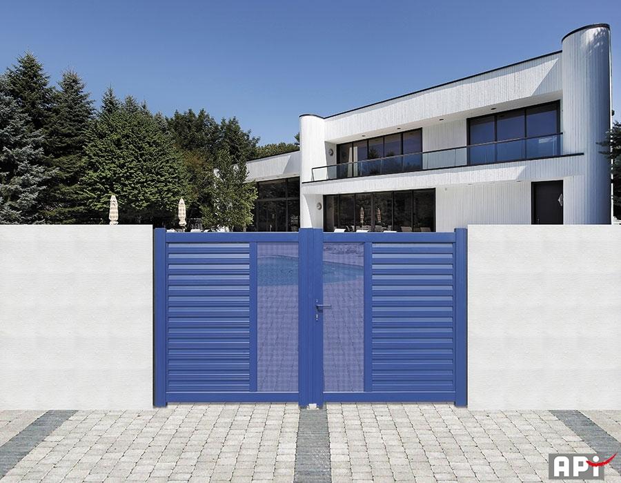 Collection moderne api 44 portail motorisation porte - Porte de garage moderne ...