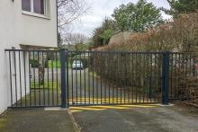 Portail 1 vantail barreaudé EXEL, clôture barreaudée