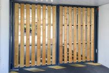 9 Porte pliante TWIN habillage bois